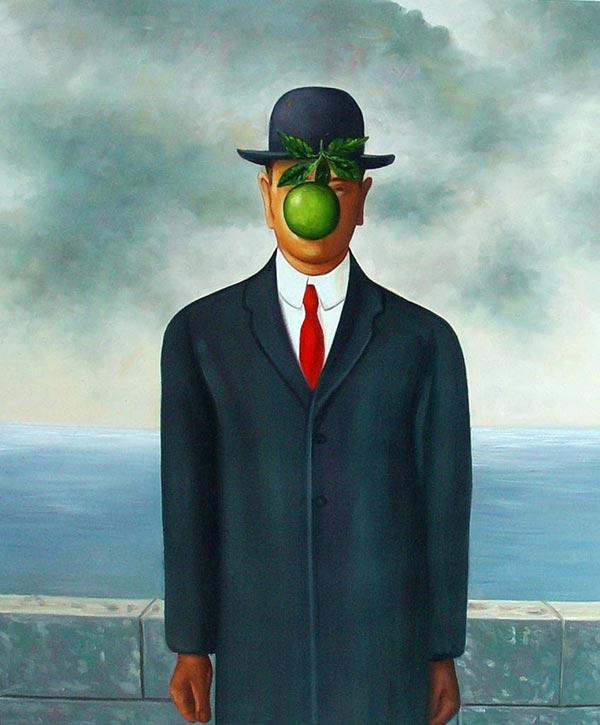 magritte_apple